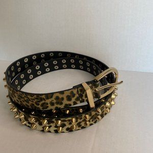 Leopard Spikes Belt